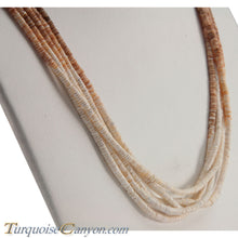 Load image into Gallery viewer, Santo Domingo Olive Shell Heishi Necklace by Ramona Byrd SKU228681