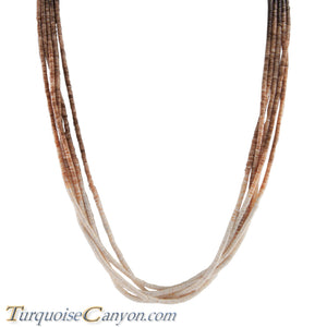Santo Domingo Olive Shell Heishi Necklace by Ramona Byrd SKU228681
