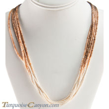 Load image into Gallery viewer, Santo Domingo Olive Shell Heishi Necklace by Ramona Byrd SKU228682