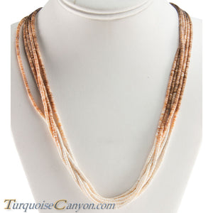 Santo Domingo Olive Shell Heishi Necklace by Ramona Byrd SKU228682