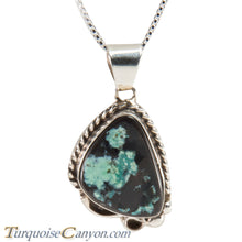 Load image into Gallery viewer, Navajo Native American Green Turquoise Pendant Necklace by Hicks SKU228690