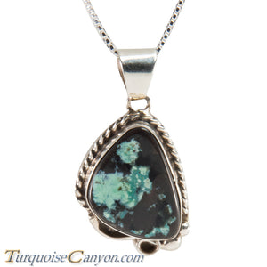 Navajo Native American Green Turquoise Pendant Necklace by Hicks SKU228690