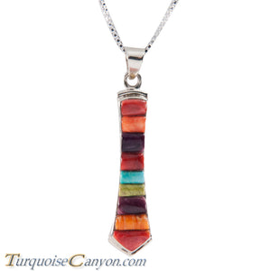 Navajo Native American Turquoise and Shell Pendant Necklace SKU228704