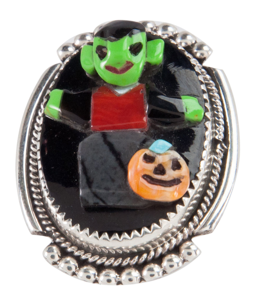 Zuni Native American Halloween Pin Pendant by Bev Etsate SKU228732