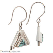 Load image into Gallery viewer, Navajo Native American Turquoise Earrings by Ronnie Henry SKU228848