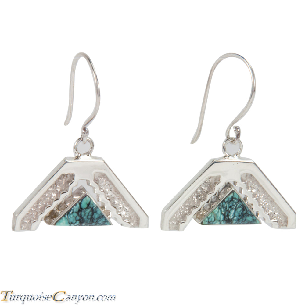 Navajo Native American Turquoise Earrings by Ronnie Henry SKU228848