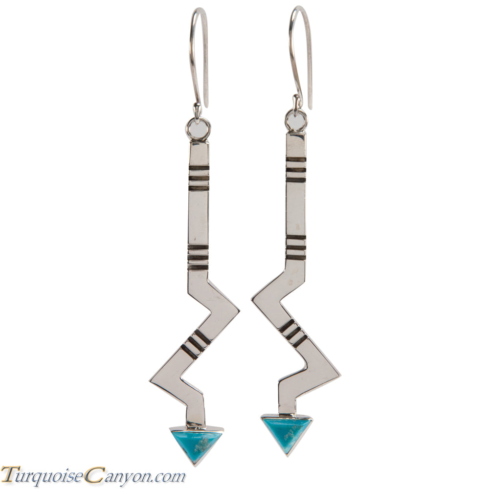 Navajo Native American Turquoise Earrings by Ronnie Henry SKU228849