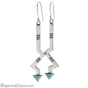 Navajo Native American Turquoise Earrings by Ronnie Henry SKU228851