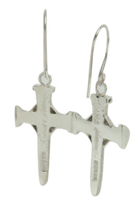 Navajo Native American Silver Cross Earrings by Ronnie Henry SKU228855