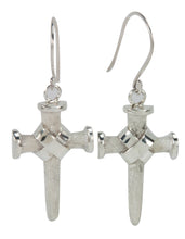 Load image into Gallery viewer, Navajo Native American Silver Cross Earrings by Ronnie Henry SKU228855