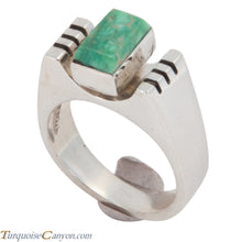 Load image into Gallery viewer, Navajo Native American Turquoise Ring Size 7 1/2 by Ronnie Henry SKU228868