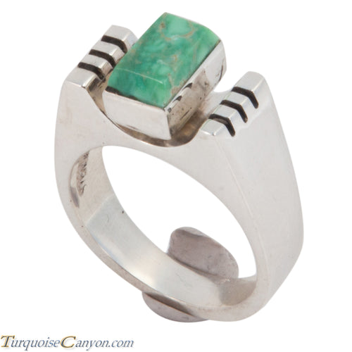 Navajo Native American Turquoise Ring Size 7 1/2 by Ronnie Henry SKU228868