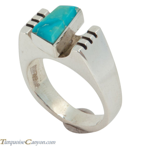 Navajo Native American Turquoise Ring Size 7 3/4 by Ronnie Henry SKU228870