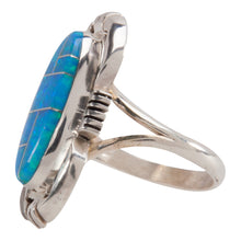 Load image into Gallery viewer, Navajo Native American Synthetic Opal Ring Size 7 1/4 by Jack SKU228896