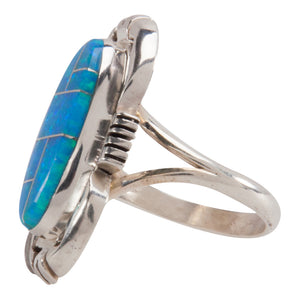 Navajo Native American Synthetic Opal Ring Size 7 1/4 by Jack SKU228896