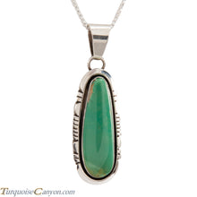 Load image into Gallery viewer, Navajo Native American Crow Springs Turquoise Pendant Necklace SKU228907