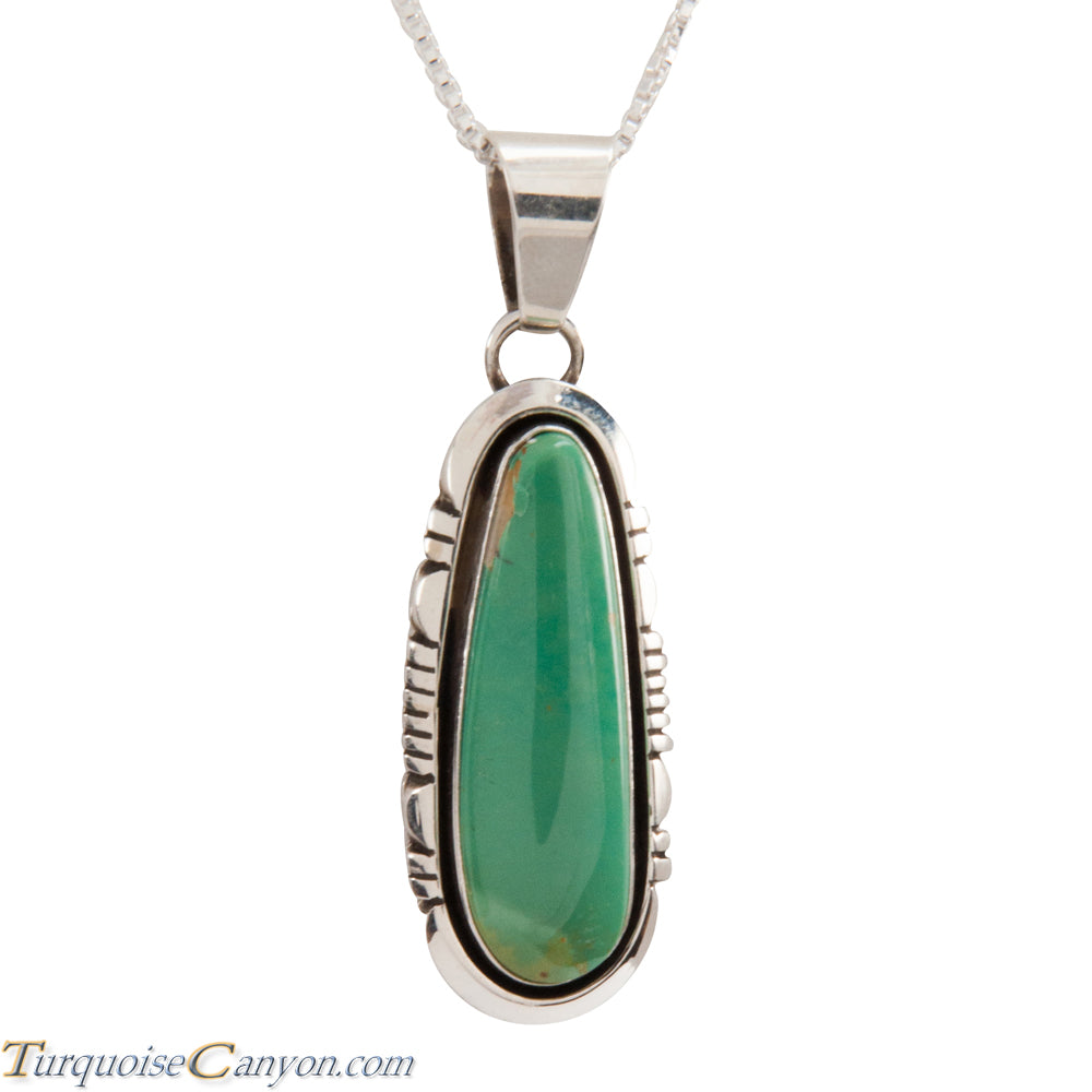 Navajo Native American Crow Springs Turquoise Pendant Necklace SKU228907