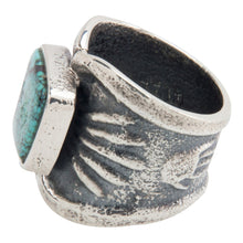 Load image into Gallery viewer, Navajo Native American Cloud Mountain Turquoise Ring Size 9 1/4 SKU228938