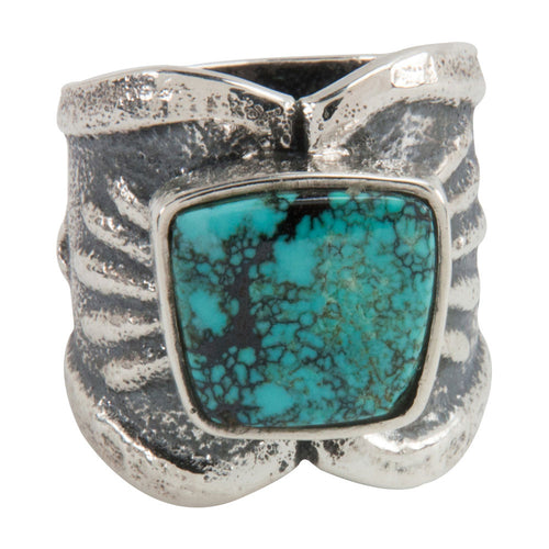 Navajo Native American Cloud Mountain Turquoise Ring Size 9 1/4 SKU228938