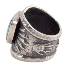 Load image into Gallery viewer, Navajo Native American Cloud Mountain Turquoise Ring Size 8 1/2 SKU228940