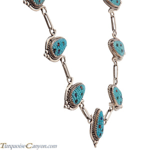 Zuni Native American Turquoise Corn Necklace by Bowekaty SKU228977
