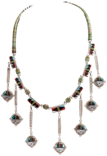Zuni Native American Turquoise Sunface Necklace by Sheryl Edaakie SKU228998