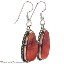 Load image into Gallery viewer, Navajo Native American Orange Spiny Shell Earrings by Salena Warner SKU229011
