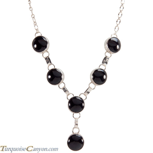 Navajo Native American Black Onyx Necklace by Jon McCray SKU229014