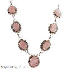 Load image into Gallery viewer, Navajo Native American Pink Mussel Shell Necklace by Jon McCray SKU229030
