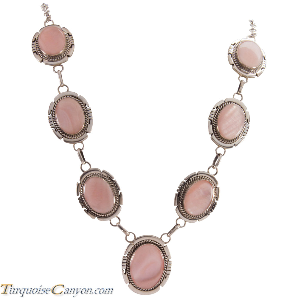 Navajo Native American Pink Mussel Shell Necklace by Jon McCray SKU229030