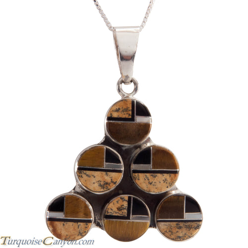 Navajo Native American Tiger Eye and Shell Pendant Necklace SKU229039
