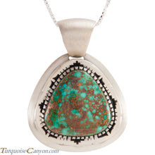 Load image into Gallery viewer, Navajo Native American Pilot Mountain Turquoise Pendant Necklace SKU229045