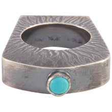 Load image into Gallery viewer, Navajo Native American Turquoise Ring Size 8 by Monty Claw SKU229065