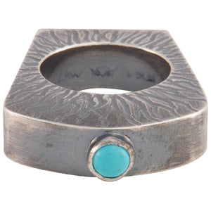 Navajo Native American Turquoise Ring Size 8 by Monty Claw SKU229065
