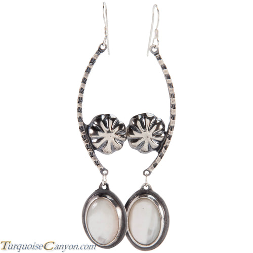 Navajo Native American Mother of Pearl Earrings by Monty Claw SKU229072