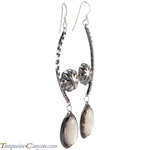 Navajo Native American Mother of Pearl Earrings by Monty Claw SKU229073