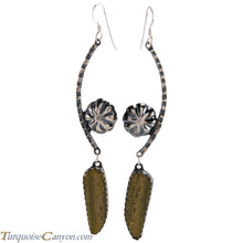 Load image into Gallery viewer, Navajo Native American Serpentine Earrings by Monty Claw SKU229080
