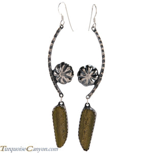 Navajo Native American Serpentine Earrings by Monty Claw SKU229080