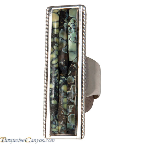 Ottawa Native American New Lander Variscite Ring Size 7 3/4 by Eagle SKU229122