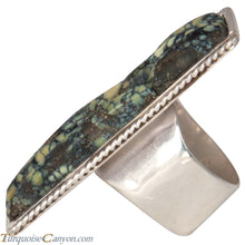 Load image into Gallery viewer, Ottawa Native American New Lander Variscite Ring Size 8 1/2 by Eagle SKU229123