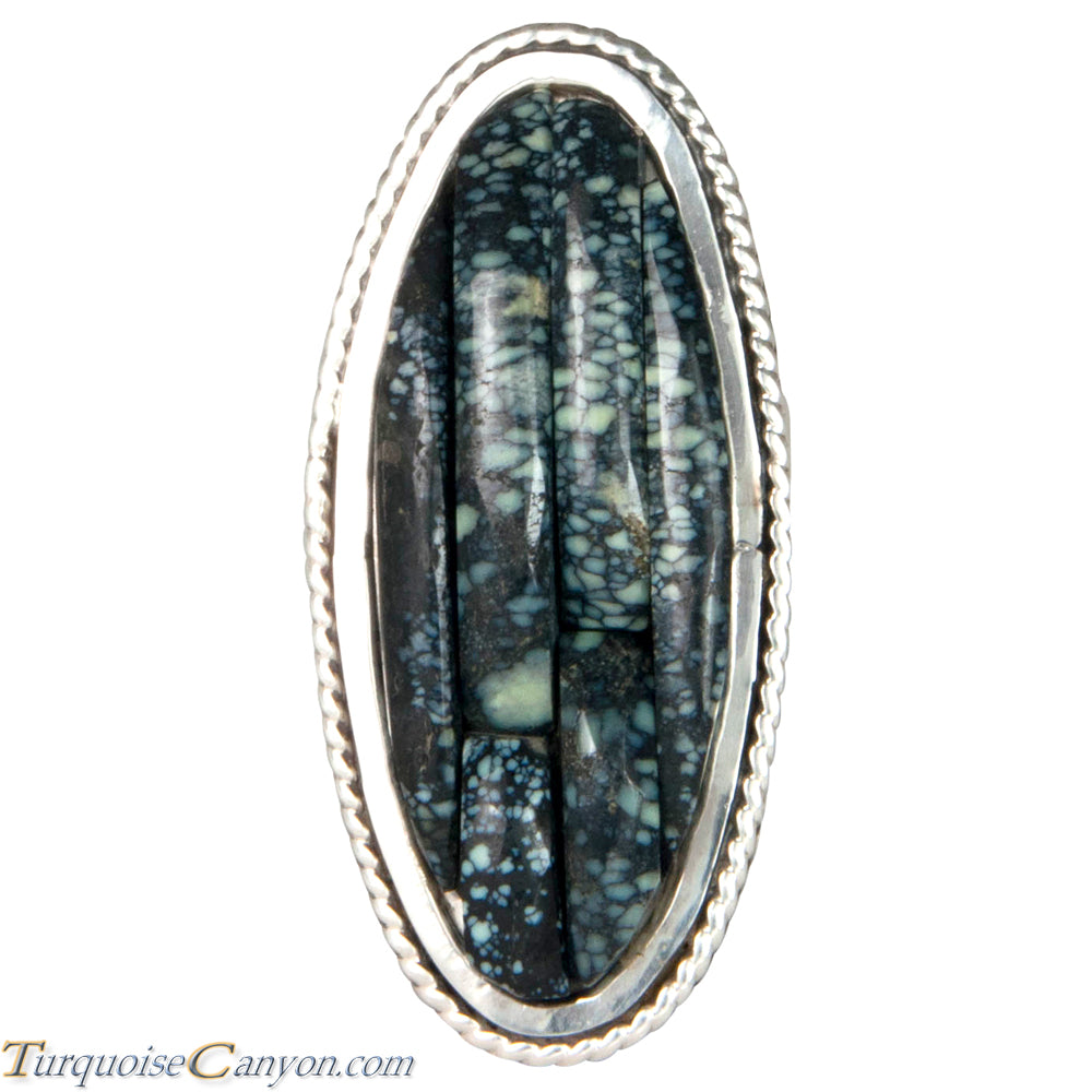 Ottawa Native American New Lander Variscite Ring Size 8 by Eagle SKU229126