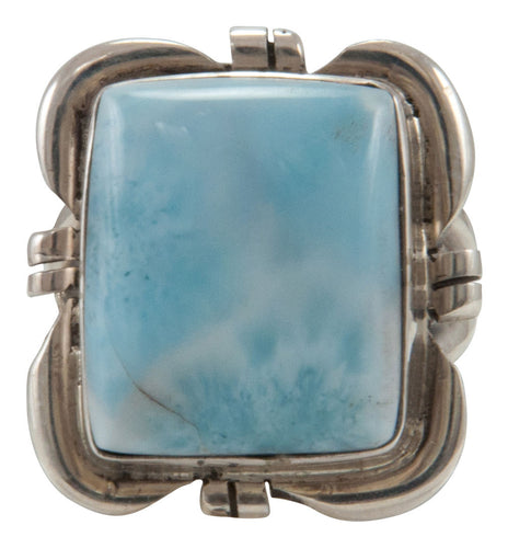 Navajo Native American Larimar Ring Size 6 SKU229161