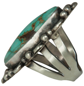 Navajo Native American Royston Turquoise Ring Size 7 1/2 by Clark SKU229172