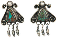 Load image into Gallery viewer, Navajo Native American Blue Moon Turquoise Earrings by Ella Peter SKU229242