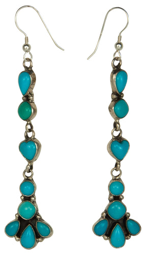 Navajo Native American Sleeping Beauty Turquoise Earrings by Spencer SKU229253