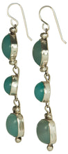 Load image into Gallery viewer, Navajo Native American Nevada Blue Chalcedony Earrings by Platero SKU229286