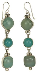 Navajo Native American Nevada Blue Chalcedony Earrings by Platero SKU229286