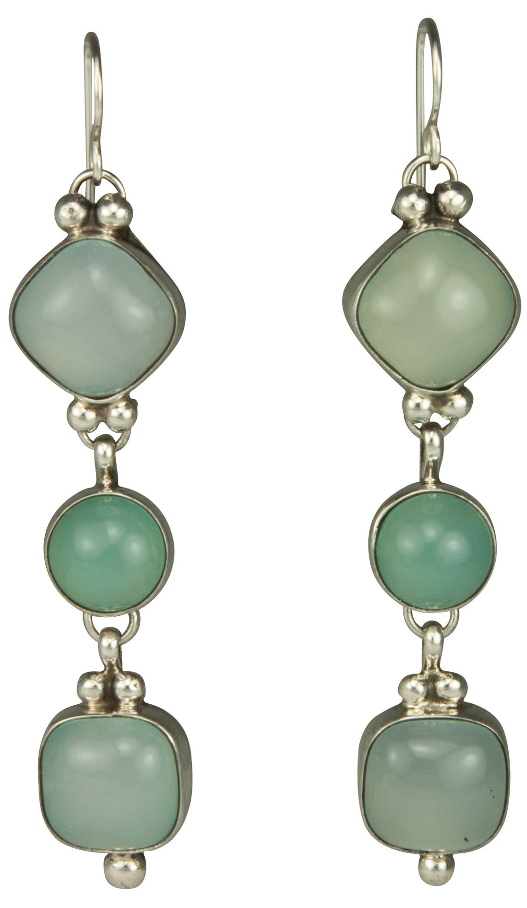 Navajo Native American Nevada Blue Chalcedony Earrings by Platero SKU229287
