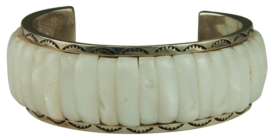 Ottawa Native American Mother of Pearl Bracelet by Carlos Eagle SKU229306