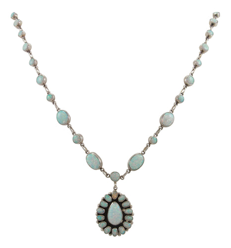 Navajo Native American Lab Created Opal Necklace by Eleanor Largo SKU229314